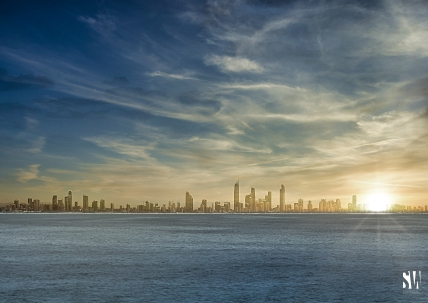Surfers Paradise and Broadbeach from Snapper Rocks The Maven Division