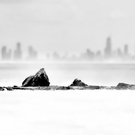 Currumbin Rocks in Black and White the Maven Division