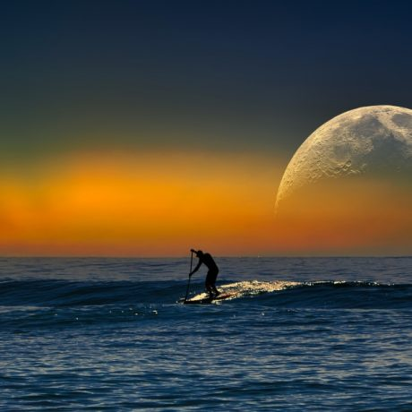 SUP Stand Up Paddle Board with Moon The Maven Division
